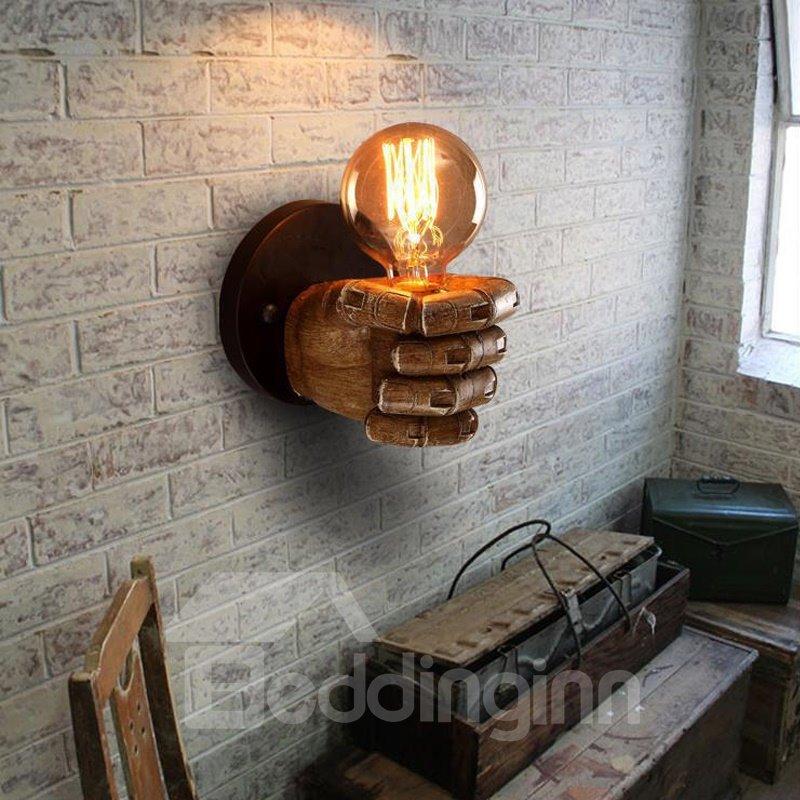 Fist Shape Creative Style Resin Finishing Antique Wall Light