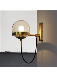 Northern Europe Retro Style Glass Button Wall Light