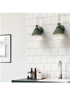 Northern Europe Style Macaron Horn Shape Iron Wall Light
