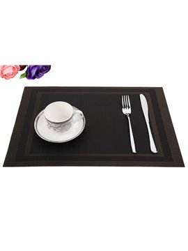 PVC Square Shape Textilene Antislip Heat Insulation Table Placemat