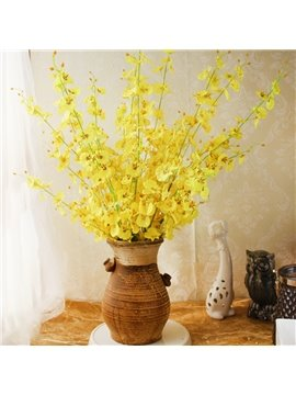 Orchid Silk Velvet Bright European Style Artificial Flowers