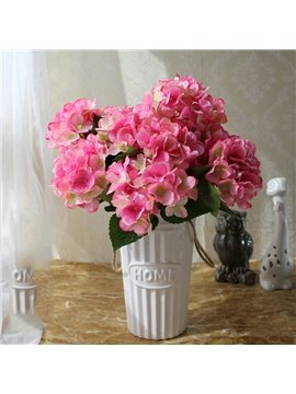 Hydrangea Blooming Modern Style Hand-Made Artificial Flowers