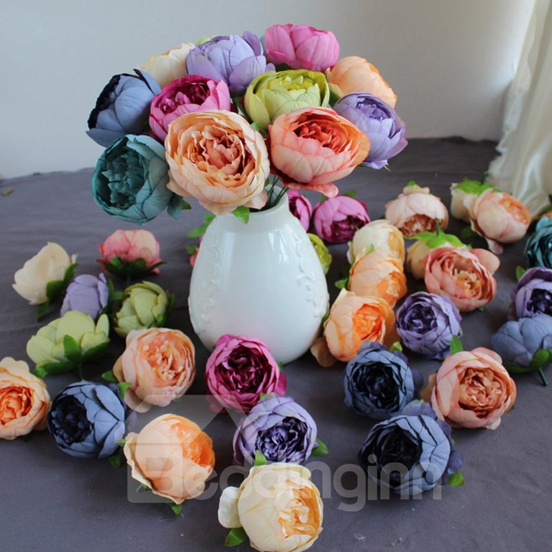 DIY Decoration Style Peony Silk European Style Artificial Flower