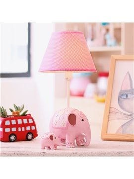 6.1*14.4in Cartoon Elephants Two Color Environmental Friendly Resin Kids Room Lamp
