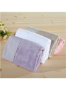 Square Shape Bamboo Fiber Plain Pattern Face&Hand Towel