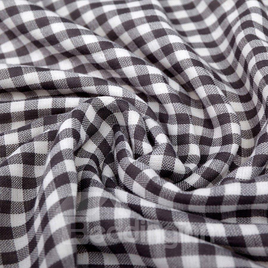 Plaid Pattern Rectangular Quick-Dry Cotton Face&Hand Towel