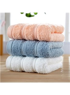Plain Pattern Cotton Quick-Dry Indoor Face&Hand Towel