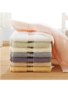 Square Shape Plain Pattern Soft Cotton Face&Hand Towel