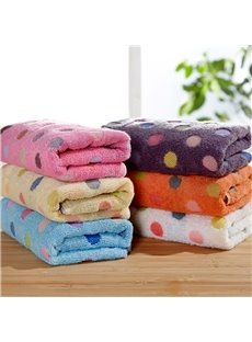 Polka Dots Cotton Rectangular Indoor Face&Hand Towel