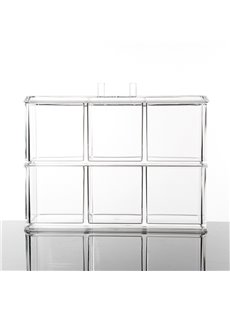 Environment Friendly 22.5*9.1*18.2cm Acrylic Material Cosmetic Storage Box
