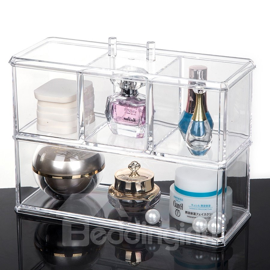 22.5*9.1*18.2cm Acrylic Material Environment Friendly Cosmetic Storage Box