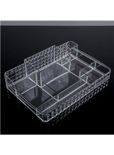 Environment Friendly Acrylic Material 34.2*22.4*8.0cm Cosmetic Storage Box