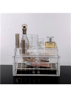 Environment Friendly Acrylic Material 23.9*15.5*18.8cm Firm Cosmetic Storage Box/