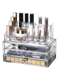 Environment Friendly Acrylic Material 23.9*15.5*18.8cm Cosmetic Storage Boxs