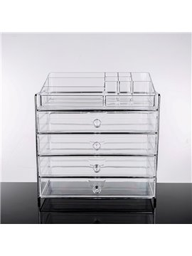 Environment Friendly Acrylic Material 34.3*23.1*36.4cm Cosmetic Storage Box