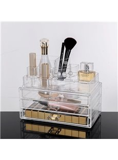 23.9*15.5*18.8cm Environment Friendly Acrylic Material Cosmetic Storage Box