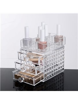 12.0*15.8*15.2cm Environment Friendly Acrylic Material Cosmetic Storage Box