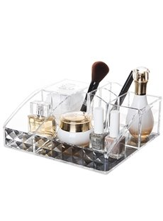 Environment Friendly Acrylic Material 23.6*20.7*8.9cm Cosmetic Storage Box