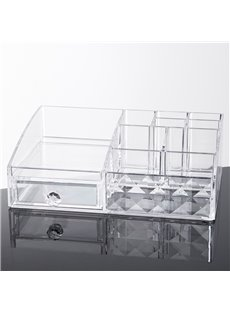 Firm Environment Friendly Acrylic Material 25.3*18.0*8.6cm Cosmetic Storage Box