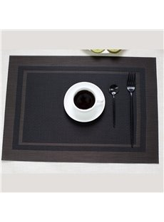 Heat Insulation 45*30CM Plastic Material Rectangle Shape Table Placemat