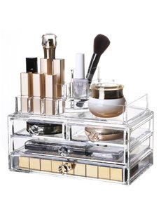 23.9*15.5*18.8cm Firm Environment Friendly Acrylic Material Cosmetic Storage Box