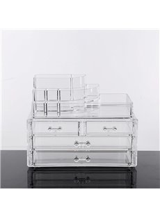 Firm Environment Friendly Acrylic Material 23.9*15.5*18.8cm Cosmetic Storage Box