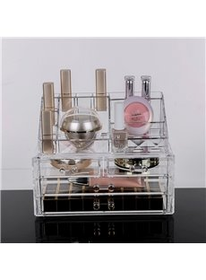 Firm 23.9*15.5*18.8cm Environment Friendly Acrylic Material Cosmetic Storage Box