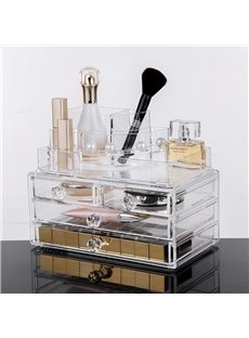 Environment Friendly Acrylic Material 23.9*15.5*18.8cm Practical Cosmetic Storage Box
