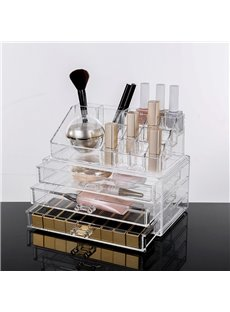 Sealed 23.9*15.5*18.8cm Environment Friendly Acrylic Material Cosmetic Storage Box
