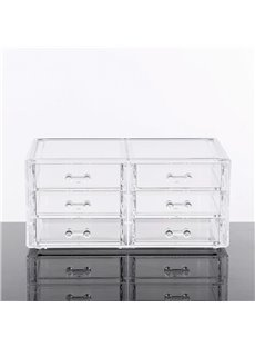 Drawer Type 23.9*15.5*10.9cm Environment Friendly Acrylic Material Cosmetic Storage Box
