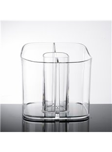 Firm Acrylic Material Environment Friendly 15.5*15.7*14.8cm Cosmetic Storage Box