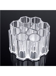 Round Shape 10.5*6.3cm Environment Friendly Acrylic Material Cosmetic Storage Box
