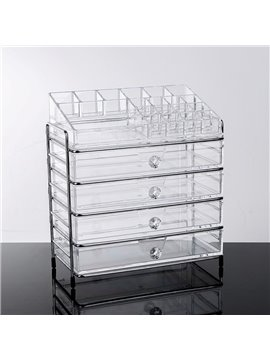 Firm Acrylic Material Environment Friendly 25.3*15.6*28.2cm Cosmetic Storage Box