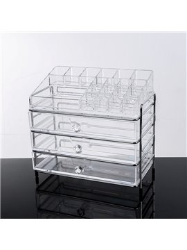25.3*15.6*22.6cm Environment Friendly Acrylic Material Cosmetic Storage Box