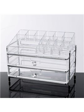 Firm Acrylic Material Environment Friendly 25.3*15.6*18.6 Cosmetic Storage Box