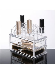 18.7*12.1*14.8cm Environment Friendly Acrylic Material Cosmetic Storage Box