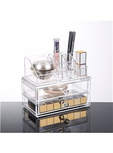 Environment Friendly Acrylic Material 18.7*12.1*16.1cm Cosmetic Storage Box