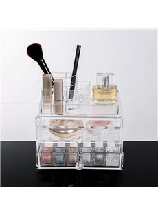 18.7*12.1*16.1cm Environment Friendly Acrylic Material Cosmetic Storage Box