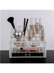 Environment Friendly Acrylic Material 23.9*15.5*18.8cm Firm Cosmetic Storage Box