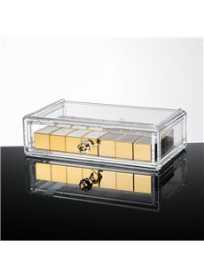 Environment Friendly Acrylic Material 18.7*12.1*5.2cm Cosmetic Storage Box