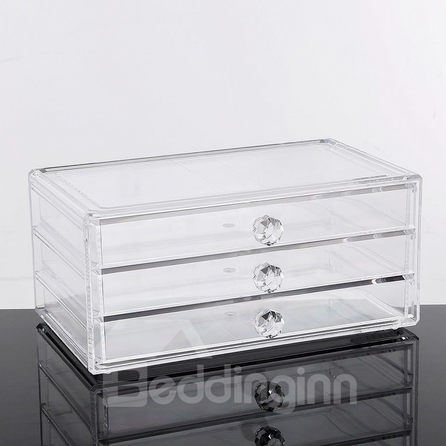 Environment Friendly Acrylic Material 23.9*15.5*10.9cm Cosmetic Storage Box