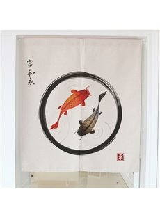 Red and Black Koi on the Water Hanging Wall Tapestry