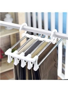 Five-In-One Stainless Steel Flexible Double Hook Trousers Rack