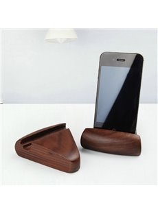European Style Multifunction Black Walnut Mobile Phone Holder