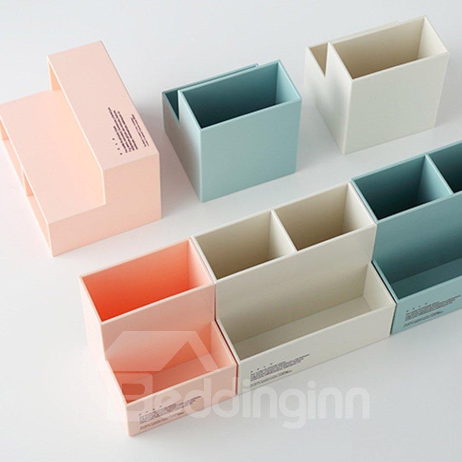 Nordic Style Multifunction Macaron ABS Desktop Storage Box