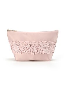 Lace Small Cloth Pure Color Cosmetic Handbag