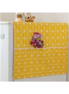 Simple Style Dustproof Plaid Pattern Square Shape Storage Bag