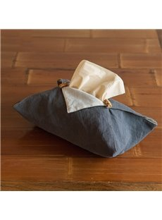 Linen Creative Retro Style Soft Texture Tissue Box