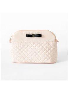 Japanese Style Diamond Pattern Bow Storage Bag