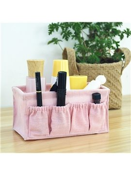 Cloth Uncovered Pure Color Korean Style Table Storage Box